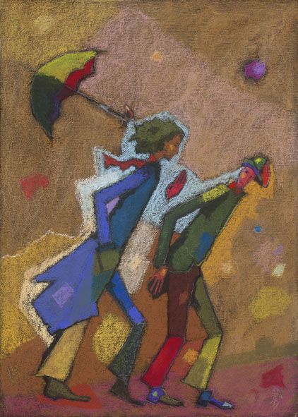 Antoine, Désiré and the wind / Antoine, Désiré és a szél / 50x70cm, pastel on paper, 2012. Peter Jakab Szőke