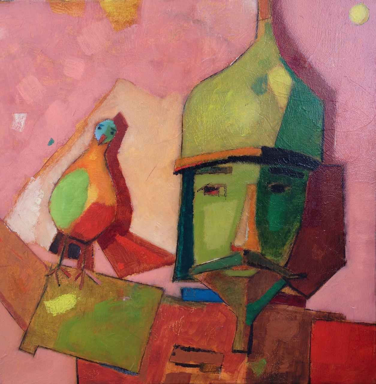 Pigeon of Dobo / Dobó galambja / 50x50cm, oil on canvas, 2013. Peter Jakab Szőke