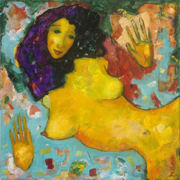 The other girl from Shabala / A másik lány Shambalából / 50x50cm, oil on canvas, 2013. Peter Jakab Szőke