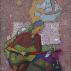 Song of Désiré / Désiré dala / 50x70cm, pastel on paper, 2012. Peter Jakab Szőke